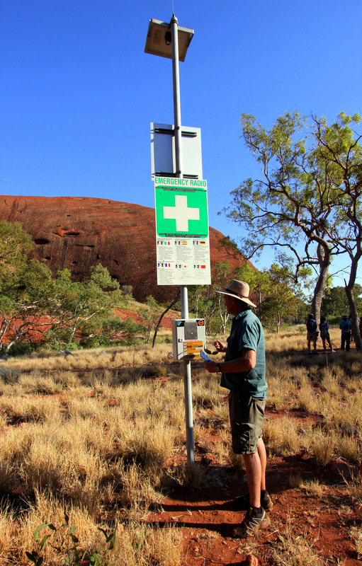 Emergency call station in Kata Tjuta