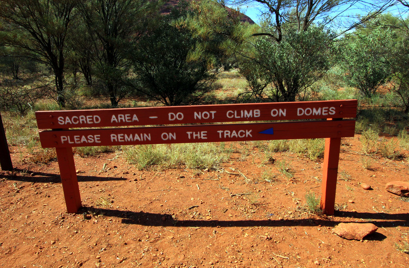 Signposts in Kata Tjuta