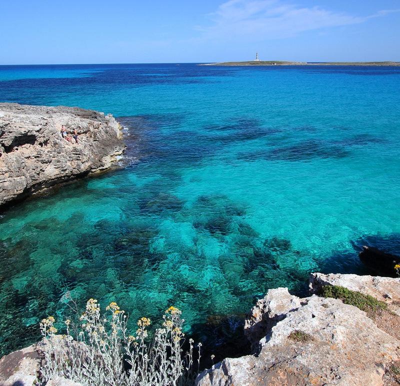 Menorca blue water