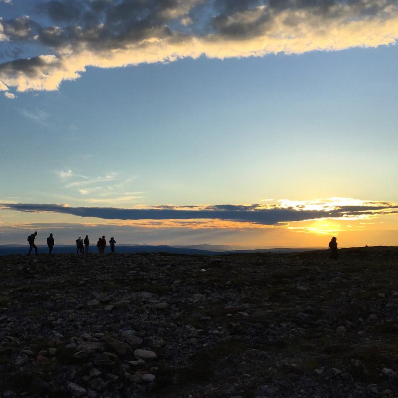 Midnight sun at Kiilopaa Fell
