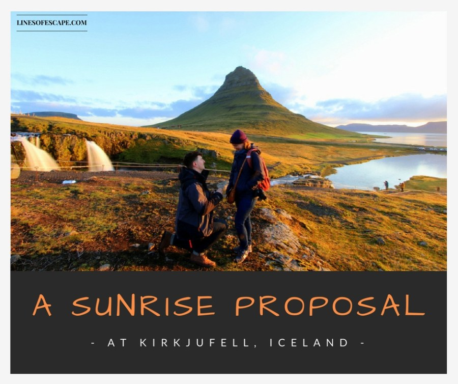 A Sunrise Proposal at Kirkjufell, Iceland