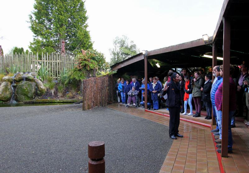Arrival ceremony at Tamaki Maori Village