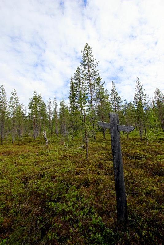 Pyha-Nattanen hike route marker