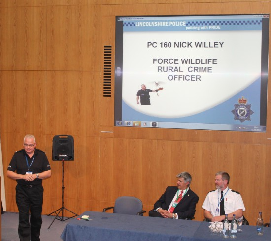 PC Nick Willey of Lincolnshire Police passing on experience gained to date in the ongoing Operation TRAVERSE – a similar multi-force, multi-agency, operation in East Anglia.