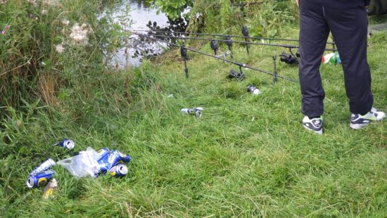 The unacceptable face of angling: litter and Anti-Social Behaviour. Next month we have a meeting, in fact, with the RSPCA executive and enforcement team, with whom we will be teaming up to address the litter issue. So far as I am concerned, anyone who leaves litter not footprints is not a proper angler but a 'yob with a rod'. Not acceptable and another issue to address.