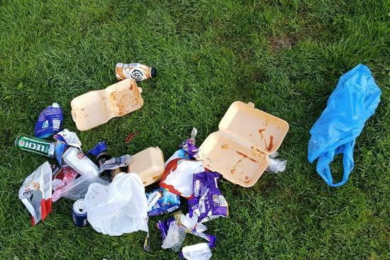 More litter: left by my pet hate, 'Yobs with rods', near Upton Bridge on the river Severn – and picked up by proper angler Dave Benfield. This is a public area and dropping litter in such is an offence