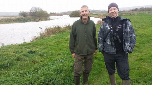 VBS South Downs Area Coordinator Colin Stirling (left), on patrol recently with Martynas Pranaitis, a Lithuanian migrant angler who has been a Volunteer Bailiff for three years, and is now one of three 'Building Bridges' Project Officers.