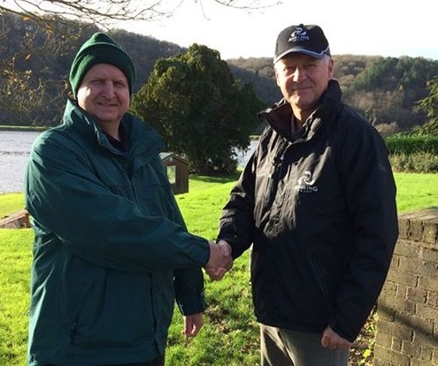 Midlands REM Kevin Pearson (right) at Trimpley Reservoir with Mark Brooker of Trimpley Anglers.