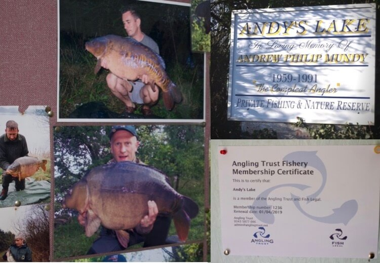 Andys Lake cotswolds carp fishing