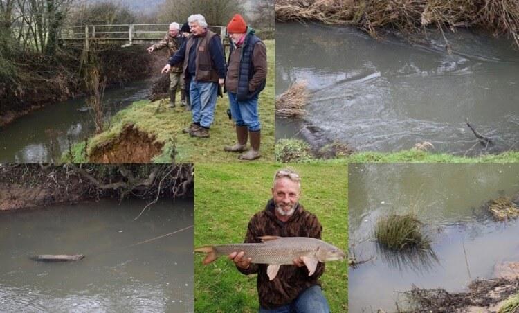 River habitat improvement River Medway UK conservation