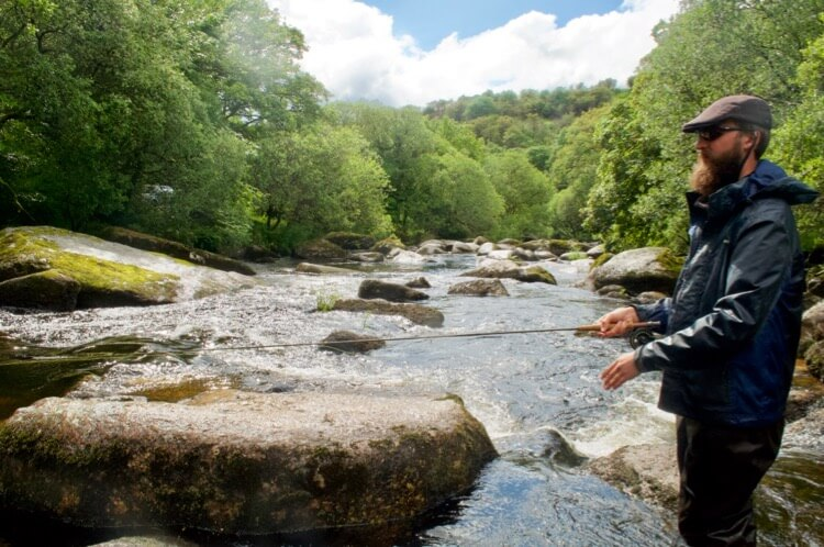 rocky river fly fishing Dartmoor Jack perks