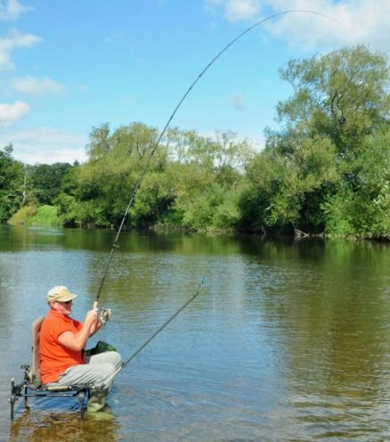 Barbel fishing River Wye