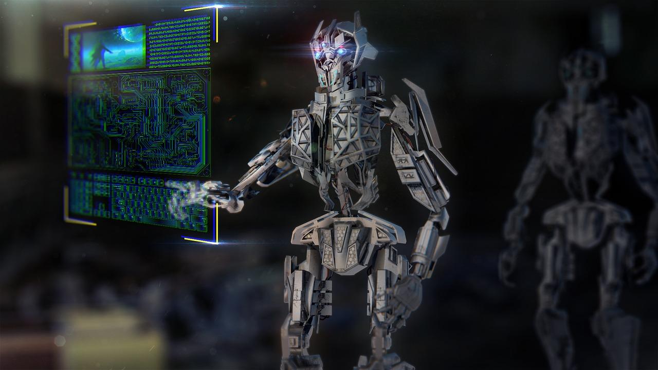 スマートチャットを送るロボット