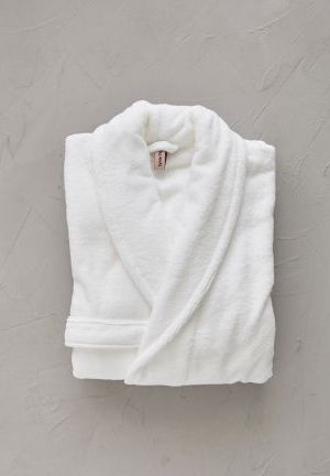 peignoir blanc