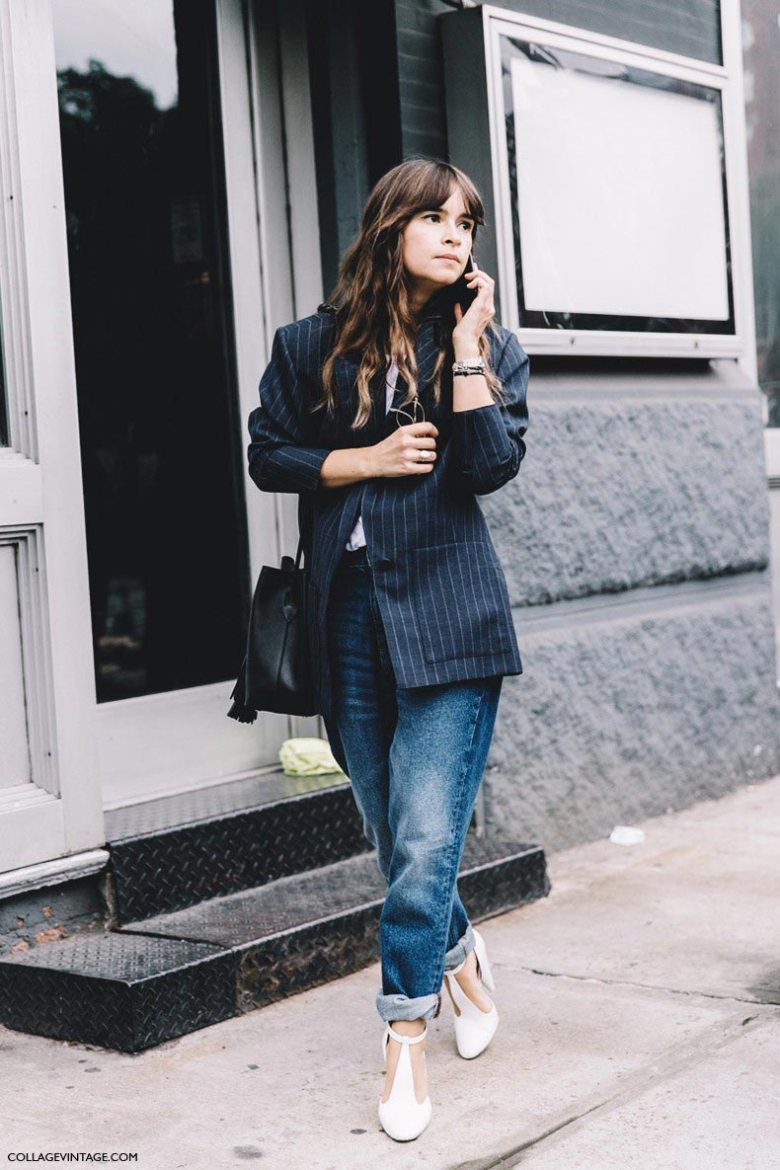 new_york_fashion_week-spring_summer-2016-street-style-miroslava_duma-tango_shoes-striped_blazer-jeans-790x1185