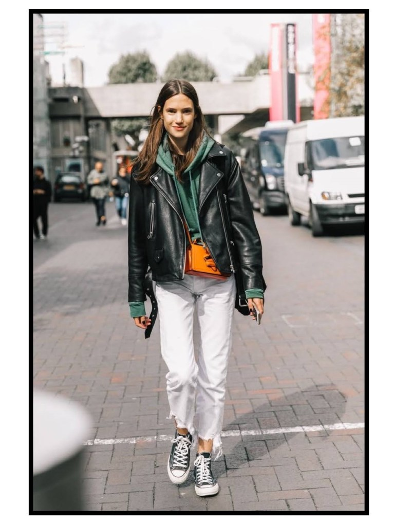 how to wear  eco leather jacket