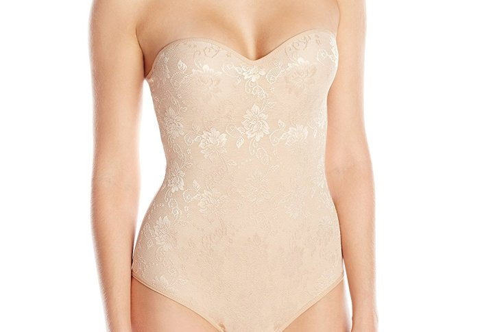 Women's Molded Cup All Over Lace Mesh Bodysuit. This allover jacquard lace bodysuit has molded cups with a hid den underwire. The back of the garment also has a hook and eye closure for added comfort. This bodysuit has a hook and e ye closure at the leg opening as well. Fri, 24 Sep 2021 12:00:50 +0400