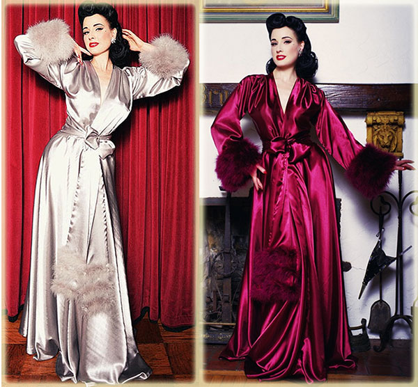 Wrapped in Glamour – Dressing Gowns & Feather-Trimmed Robes ...