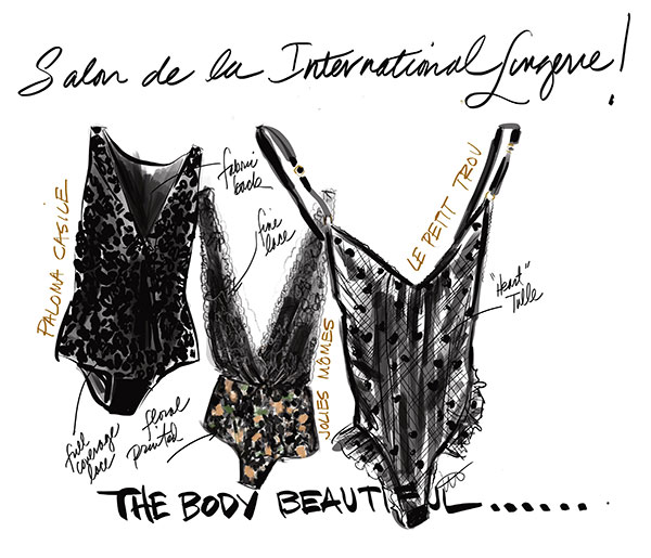 Fashion Illustration by Tina Wilson for Lingerie Briefs