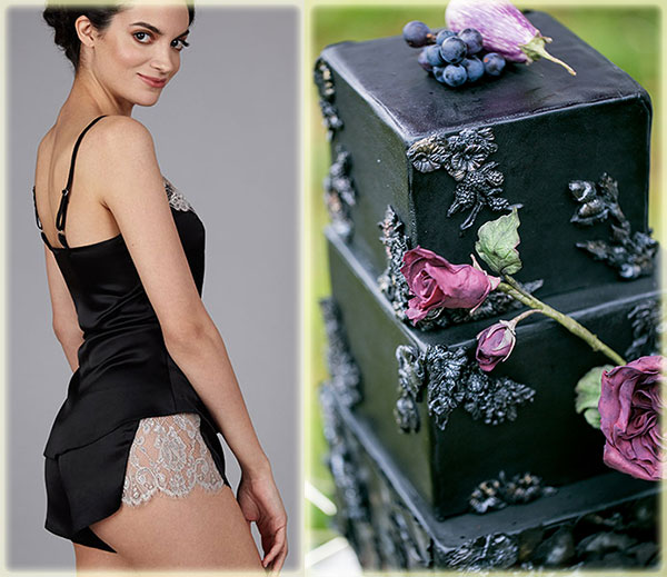the Giving Bride cami & tap pant & wedding cake photo by Chantal Routhier on Lingerie Briefs