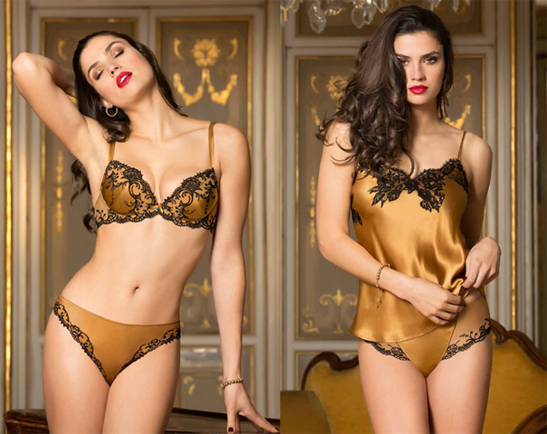 fall winter preview splendor silk collection by lise charmel lingerie briefs by ellen lewis. Black Bedroom Furniture Sets. Home Design Ideas