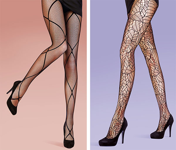 Diamond fishnet tights and abstract net tights from Pretty Polly on Lingerie Briefs
