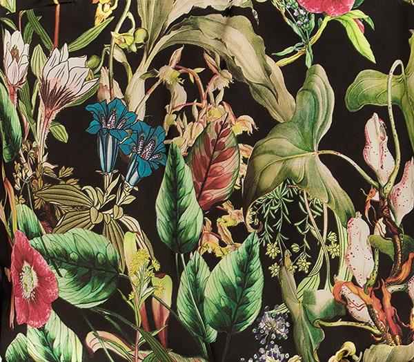 Fleurs de Jungle silk print by Lise Charmel on Lingerie Briefs