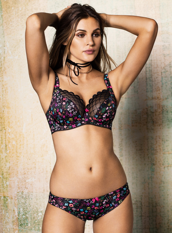 New from Freya - Harmonie Girl floral balconnet bra and panty