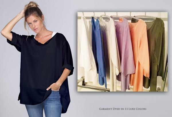 New from Jammy Beans - Cotton Silk Tunic in great colors