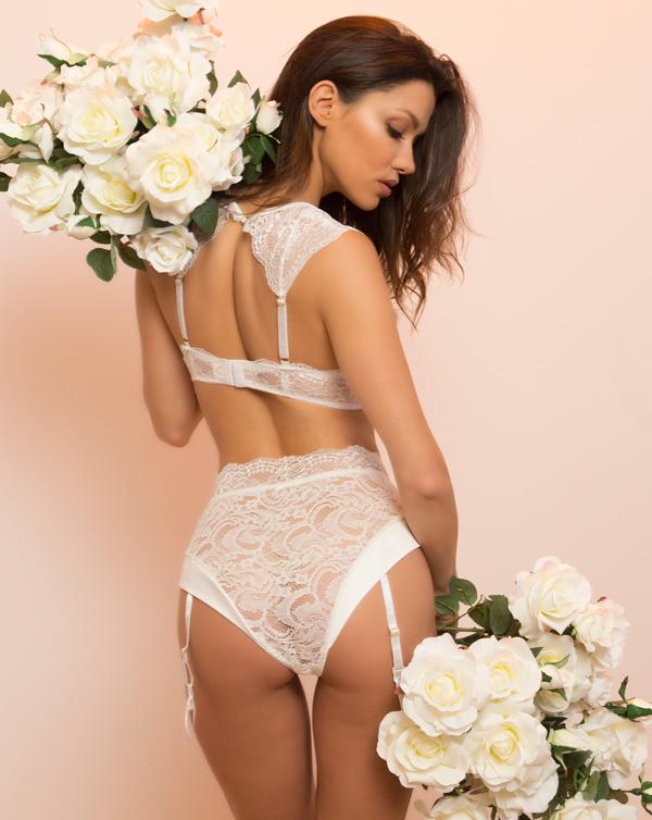 Kaviar Diane bridal lingerie - back view