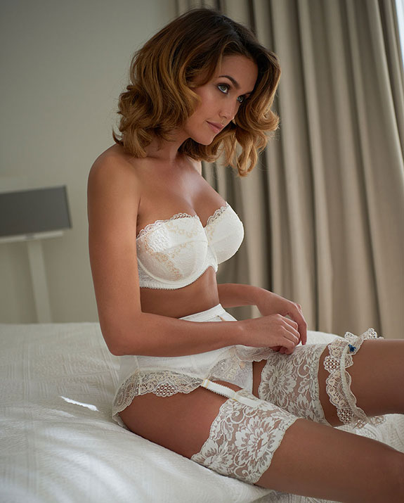 Charnos Lingerie Baily strapless bra and matching bridal set on Lingerie Briefs