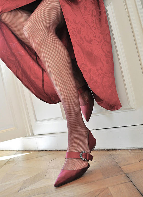 Fishnet Stockings from Swedish Stockings on Lingerie Briefs