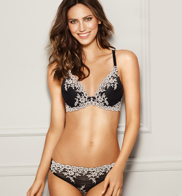 Wacoal Embrace Lace Plunge Bra featured on Lingerie Briefs