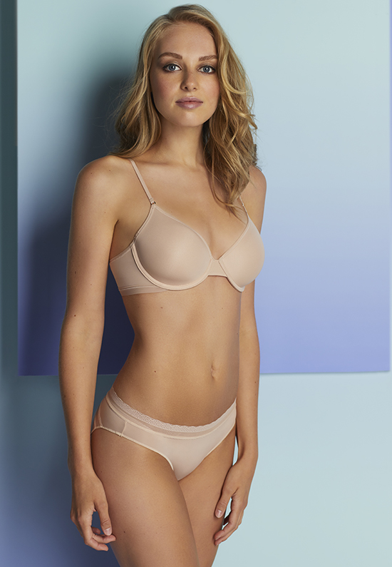 On Gossamer Next to Nothing microfiber 4 way stretch bra on Lingerie Briefs