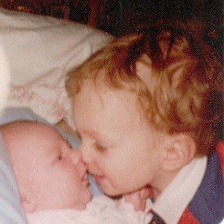 My two oldest children when they were babies.