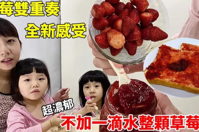 [食譜]草莓雙重奏全新感受~超濃郁!不加一滴水整顆草莓醬!配什麼都好吃!