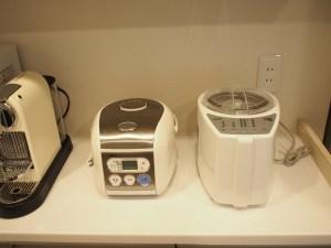 炊飯器と精米機