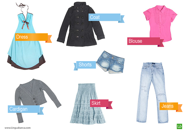 English vocabulary for clothes and fashion