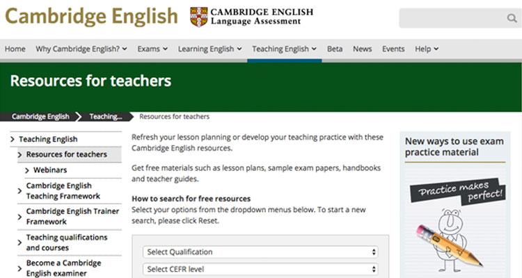 cambridge english teaching resources