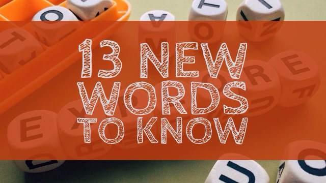 новые слова в английском