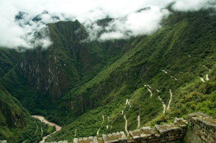 That windy road is what we took to get down to Aguas Calientes