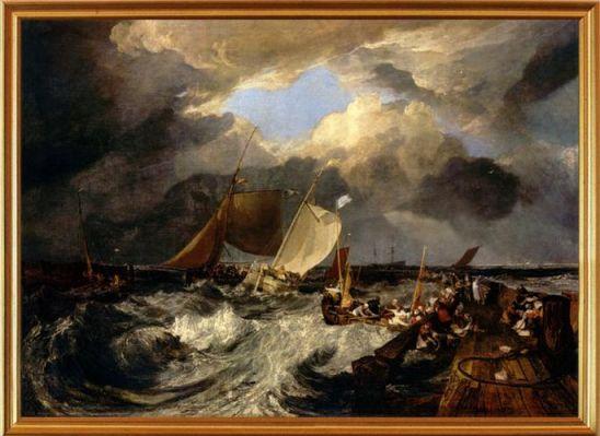 Картинная галерея на английском, картина calais pier