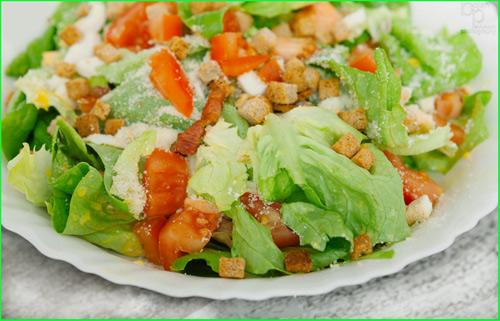 Caesar-salad - рецепт салата на английском