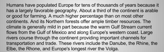 Европа реки английский текст