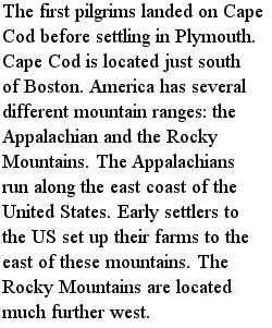 америка - Горы, текст на английском