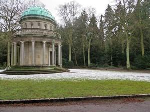 Frankfurt-Hauptfriedhof, Mausoleum Gans, erbaut 1909 vom Großindustriellen Friedrich Ludwig von Gans