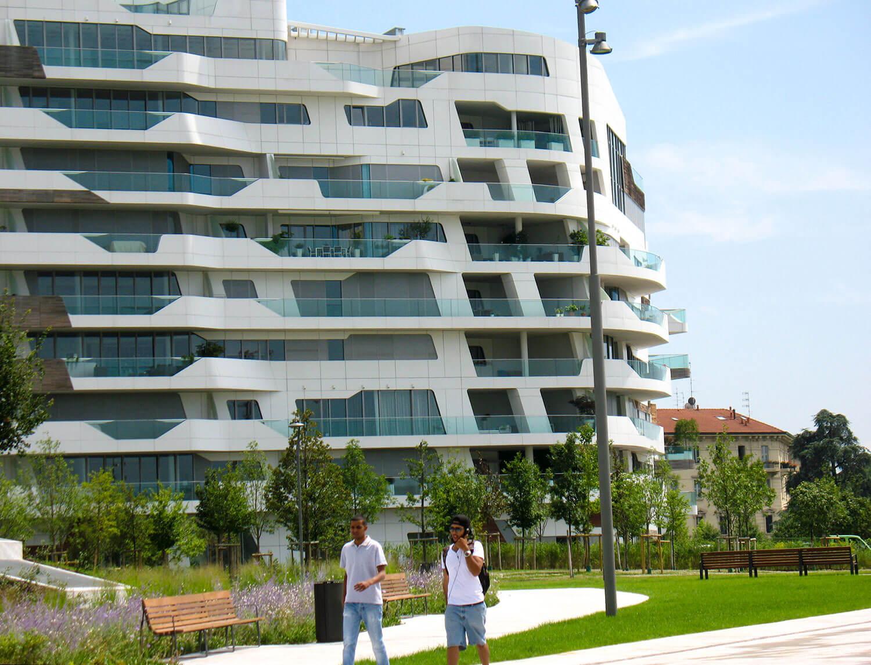 Neue Wohnquartiere auf dem ehemaligen Messegelände Mailands.
