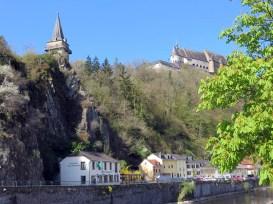 Vianden/Luxemburg mit Blick auf das Schloss Vianden.