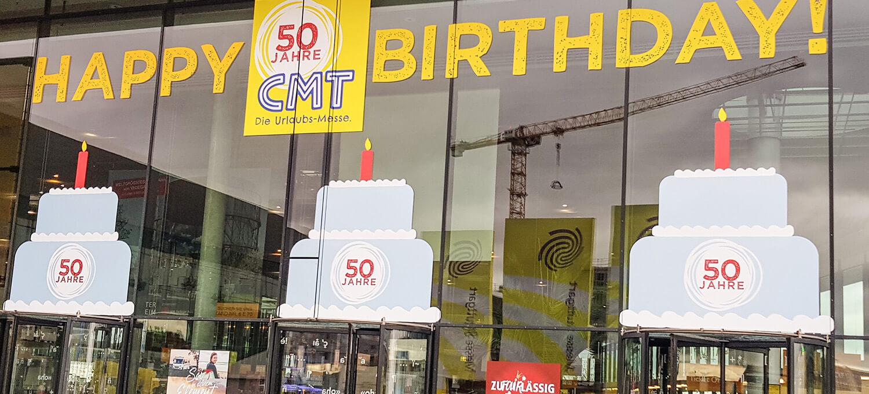 Eingang der CMT in Stuttgart