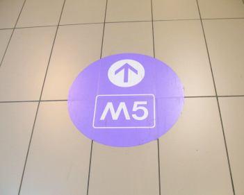Beschilserung M5 Mailand